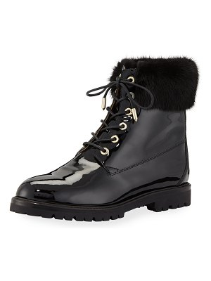 Aquazzura The Heilbruner Combat Boots with Fur