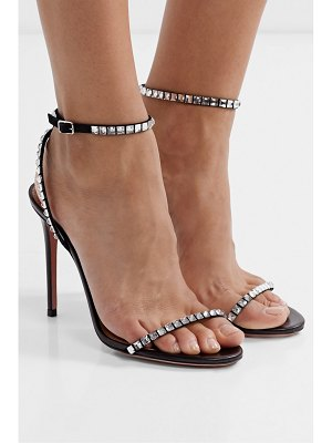 Aquazzura very vera 105 crystal-embellished suede sandals