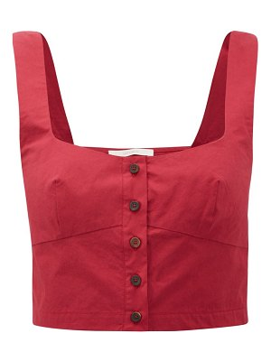Araks tilly square-neck cotton cropped top