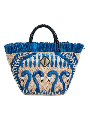 ARANAZ blue flamingo tote