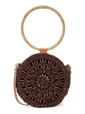 ARANAZ Etienne Wicker Circle Top Handle Bag