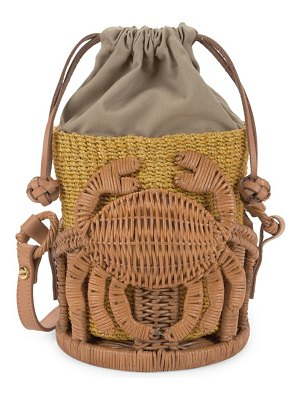 ARANAZ Kailani Straw Bucket Bag