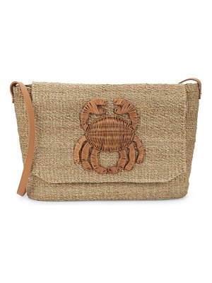 ARANAZ Malia Straw Crossbody Bag