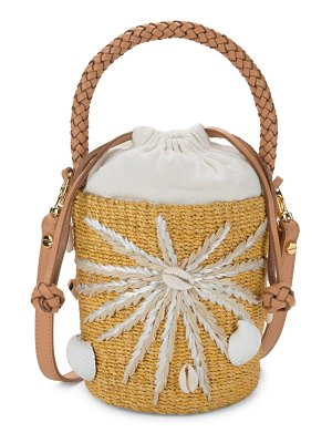 ARANAZ Mini Halia Straw Bucket Bag