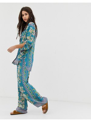 Aratta relaxed pants in floral print two-piece