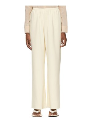 Arch The beige silk trousers