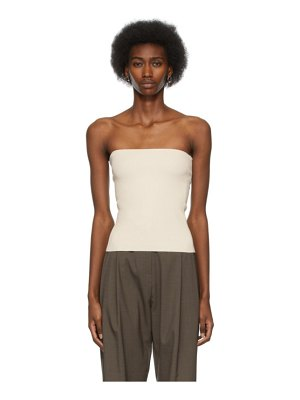 Arch The off-white ribbed tube top
