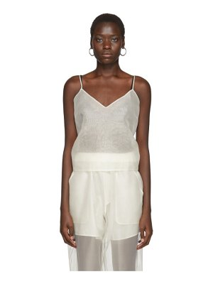 Arch The off-white silk v-neck tank top