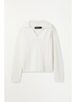 Arch4 cable-knit cashmere sweater