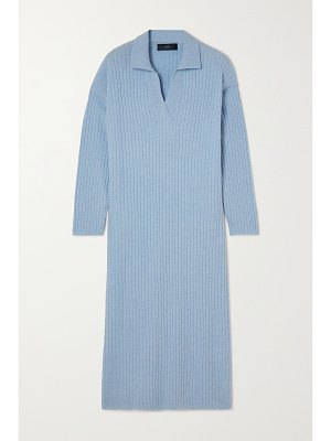 Arch4 + net sustain dolly oversized ribbed cashmere midi dress