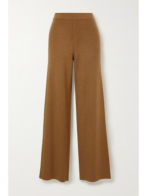 Arch4 + net sustain ribbed cashmere straight-leg pants
