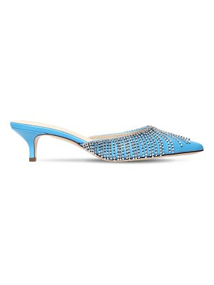 AREA 60mm embellished leather mules
