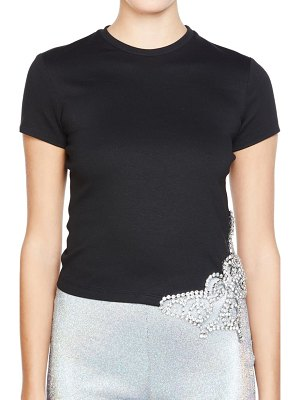AREA crystal cutout butterfly t-shirt