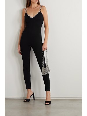 AREA crystal-embellished stretch-crepe jumpsuit