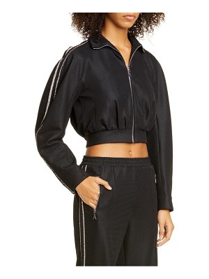 AREA crystal trim crop track jacket