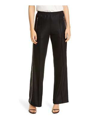 AREA crystal trim track pants