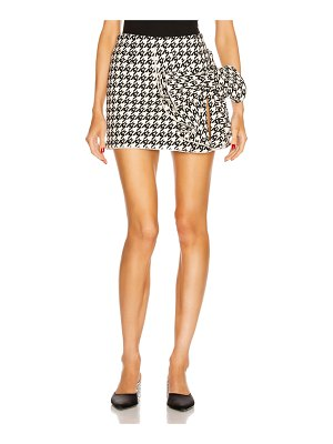AREA crystal trimmed bow skirt
