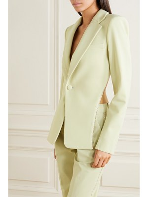 AREA open-back crystal-embellished cady blazer