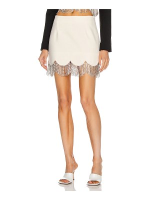 AREA scalloped crystal hem mini skirt