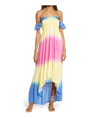 AREA STARS layla off the shoulder high/low maxi dress