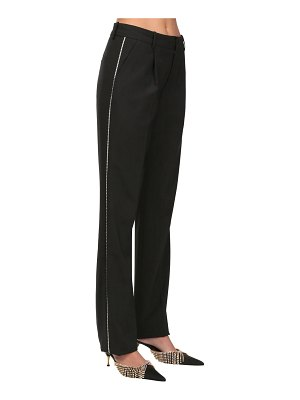 AREA Wool blend pants w/ crystal side bands