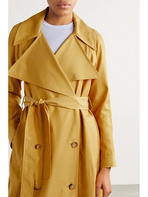 ARIAS belted double-breasted cupro and cotton-blend trench coat