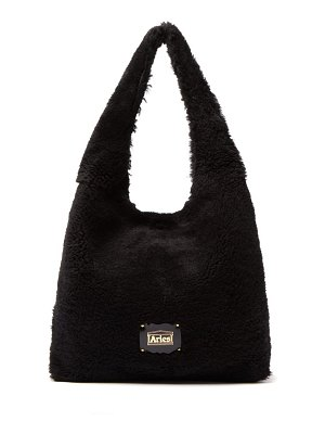 Aries large shearling tote bag