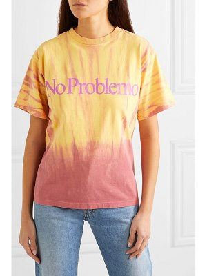 Aries no problemo printed tie-dyed cotton-jersey t-shirt