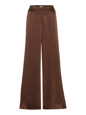 ARJÉ naia high-rise wide-leg satin pants
