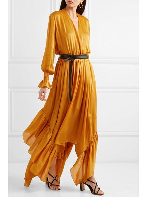 ARJÉ ruffled asymmetric silk-satin maxi dress