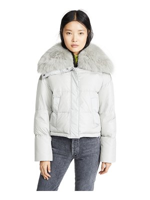 Army by Yves Salomon doudoune fox lined puffer coat