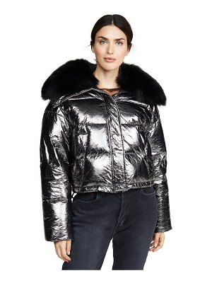Army by Yves Salomon doudoune fox lined puffer