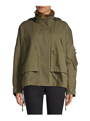 Army by Yves Salomon oversize fur-trimmed parka