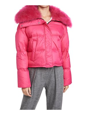 Army by Yves Salomon shearling tibet trimmed short jacket