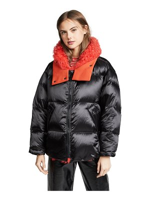 Army by Yves Salomon two tone collar puffer