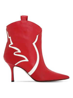AROUND THE BRAND 70mm leather ankle boots
