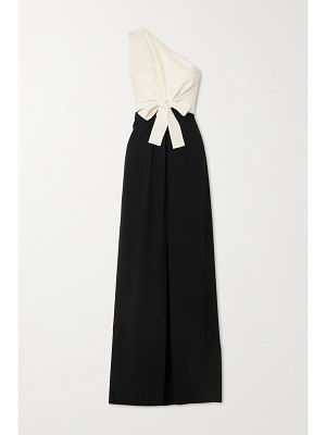 ARTCLUB + net sustain beneventotie together one-shoulder cutout silk-blend and crepe maxi dress