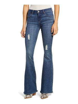 Articles of Society faith distressed flare jeans