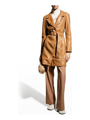 AS by DF Crawford Recycled Leather Trench Coat
