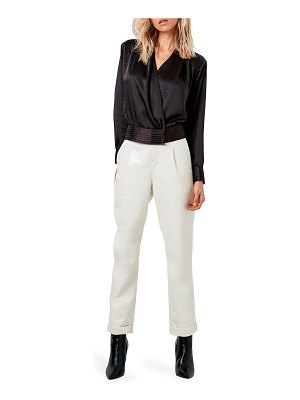 AS by DF Crema Long-Sleeve Satin Blouse