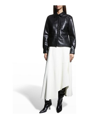 AS by DF La Nuit Recycled Leather Blouse