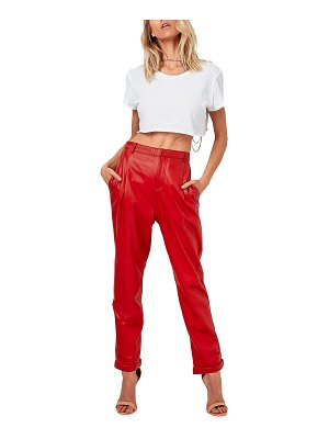 AS by DF The Denise Recycled Leather Ankle Trousers