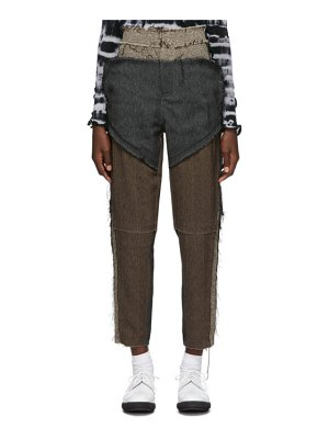 ASAI brown patch court trousers