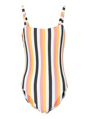 Asceno Classic Square Neck striped swimsuit