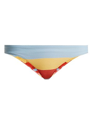 Asceno Low-rise striped-print bikini briefs