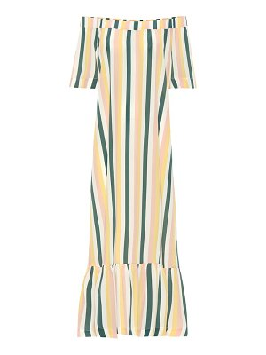 Asceno Off-the-shoulder silk dress
