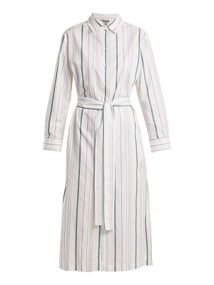 Asceno Point-collar striped cotton shirtdress
