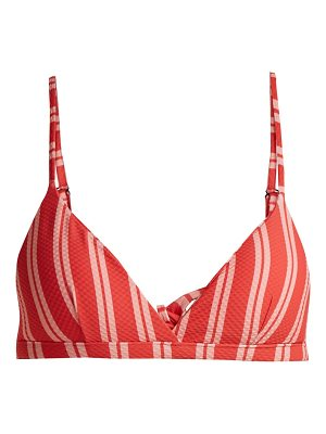 Asceno Striped-print triangle bikini top