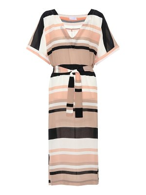 Asceno Striped silk dress