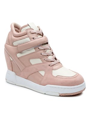 Ash Body Mixed Leather Wedge Fashion Sneakers